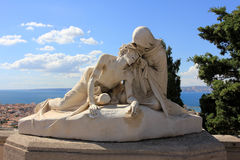 D'Azur de Provence CÃ'te, catedral de França - de Marselha Imagens de Stock