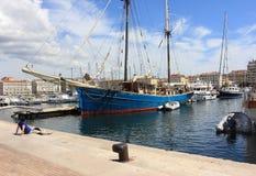 D'Azur de Provence CÃ'te, porto velho de França - de Marselha Fotos de Stock Royalty Free
