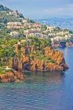 d'Azur del Cote, Francia fotografie stock