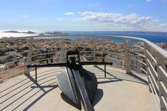 D'Azur della Provenza CÃ'te, Francia - vista su Marsiglia immagini stock libere da diritti