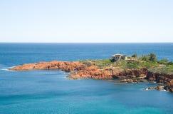 d'Azur francês da costa Foto de Stock Royalty Free