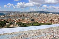 D'Azur Provence CÃ'te, Frankreich - Ansicht über Marseille Lizenzfreies Stockfoto