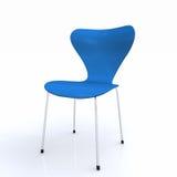 3D błękitny krzesło Obrazy Royalty Free