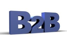 3d B2B geeft terug Royalty-vrije Stock Foto