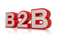 3d - B2B text in red Stock Photos
