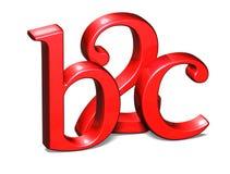 3D B2C rouge sur le fond blanc Photographie stock libre de droits