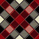 3D bûcheron Tartan Seamless Pattern Images stock
