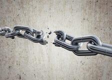3d b som bryter chain hdriblixtframförande w Arkivbild