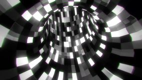 3D B&W sci-fi arificial intelligence tunnel - vj loop animated background. Cyber 3D B&W sci-fi arificial intelligence tunnel - vj loop motion background backdrop stock footage