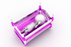 3d baby cradle Royalty Free Stock Photo