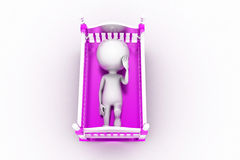 3d baby cradle Stock Image
