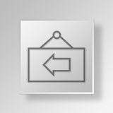 3D Back Business Sign icon Business Concept Stock Photography