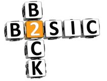 3D Back to Basic Crossword text. On white background Royalty Free Stock Image