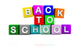 3d back to school cubes Royalty Free Stock Photos
