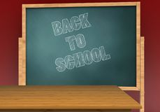 3d back to school Royalty Free Stock Photo