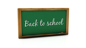 3d back to school slate. 3d green back to school slate on white background Stock Images