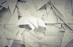 3d background with chaotic triangle polygons Stock Photos