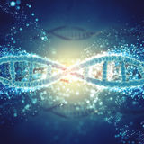 3D background with DNA strands Royalty Free Stock Images