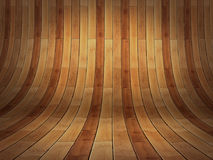 Realistic 3D presentation empty room - wood parket background  Royalty Free Stock Image