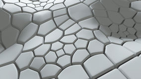 3d background with extruded polygons Royalty Free Stock Photo