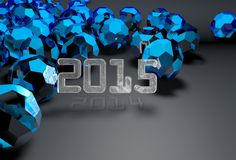 2015 3d background. 2015 3d futuristic background 2014 in shadow Stock Photography