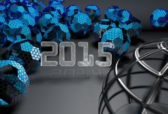 2015 3d background. 2015 3d futuristic background 2014 in shadow vector illustration