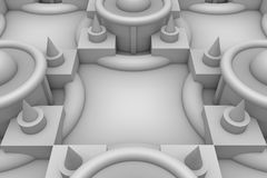 Abstract background of 3d blocks. 3d background, geometric shapes, top view volume of chiaroscuro Stock Photography
