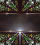 3D background - Glass fantasy Royalty Free Stock Images