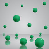 3D background with green balls, Eps 10  design. Royalty Free Stock Images