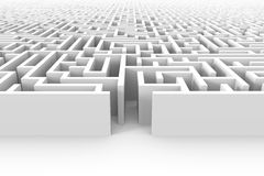 3d background of a grungy mesh structure (seamless). A huge white maze structure with entrance Royalty Free Stock Photo