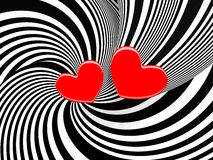 3d background with a hearts. Royalty Free Stock Photography
