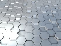 3d background hexagon metal texture Royalty Free Stock Photos