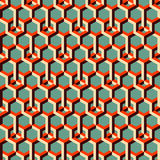 3d background with hexagons. Abstract geometrical seamless background. Can be used for wallpaper, web page background, book cover Stock Image