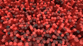 3d background hexagons Royalty Free Stock Images