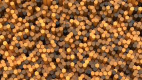 3d background hexagons Royalty Free Stock Photos