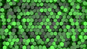 3d background hexagons. Of different height Royalty Free Stock Photo