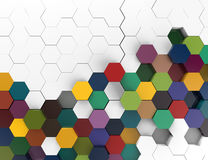3d background with hexagons. Wallpaper Royalty Free Stock Images