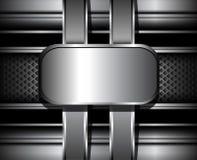 3D Background metallic. Stock Image