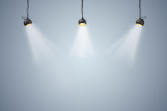 3d background setup with lighting lamps. 3d blank background setup with lighting lamps Royalty Free Stock Photography