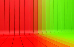 3d background. Striped 3d background gradient color from green to the red Stock Photography