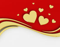 3D Background Valentine's Day. 3D Red Background Valentine's Day Stock Photo