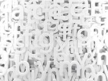 White  alphabet Stock Images