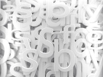 White  alphabet Royalty Free Stock Photo