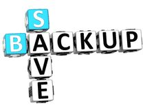 3D Backup Data Crossword. On white background Stock Photo