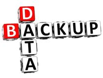 3D Backup Data Crossword Royalty Free Stock Image