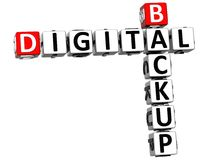 3D Backup Digital Crossword Royalty Free Stock Photography