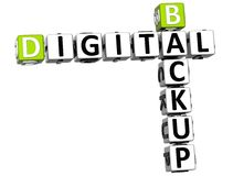 3D Backup Digital Crossword Stock Photography