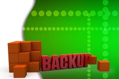 3d backup illustration Royalty Free Stock Images