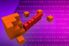 3d backup illustration Stock Images