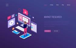 3d badanie rynku odosobniony biel Analiza, wzrostowa mapa, badawcza statystyki, strategiczny pieniężny planowanie ilustracji